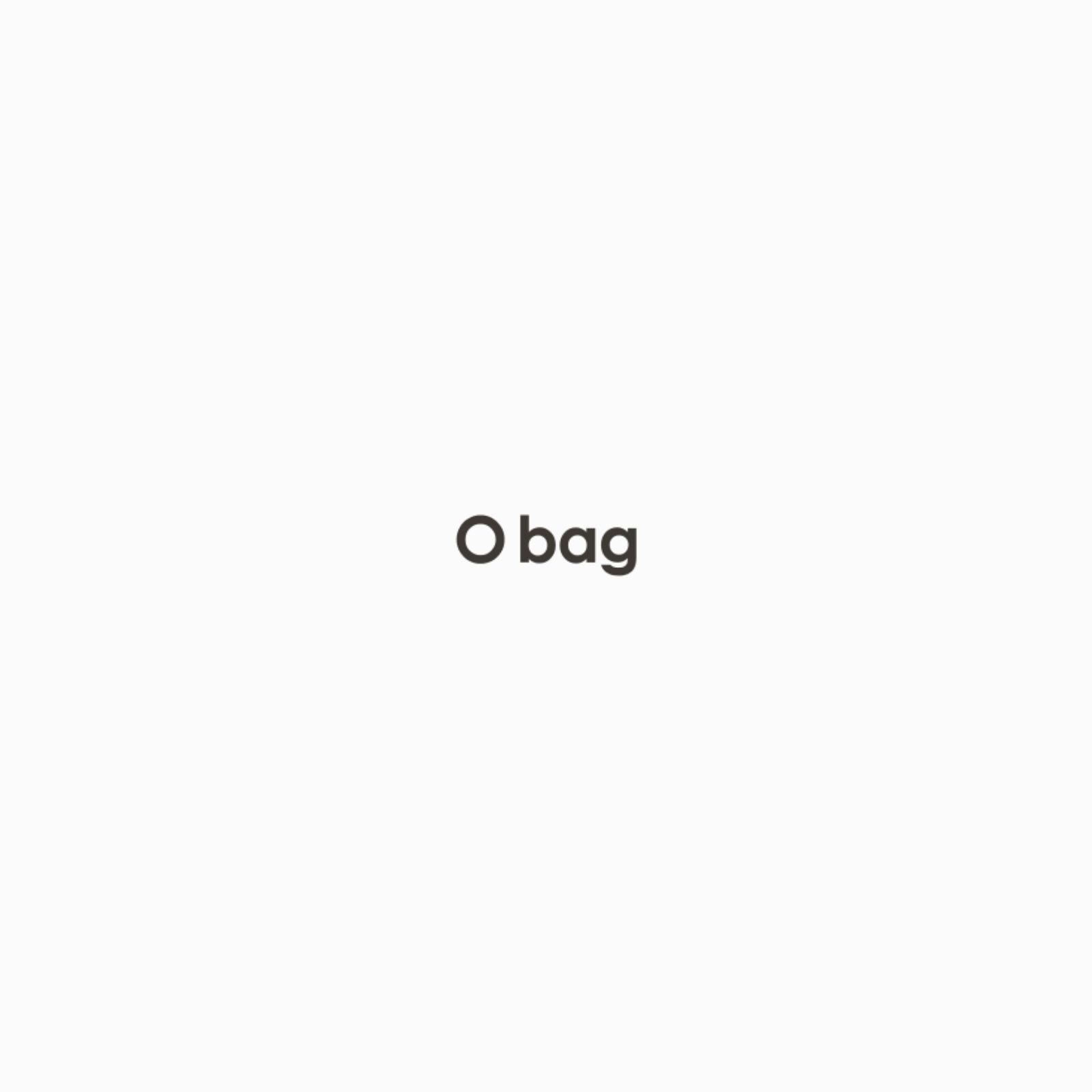 O bag soft smooth mini bianca con tracolla stretta gommata